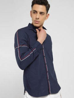 SCULLERS Contrast Stripe Slim Shirt