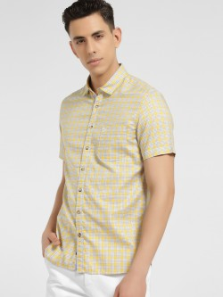 SCULLERS Multi-Check Slim Oxford Shirt