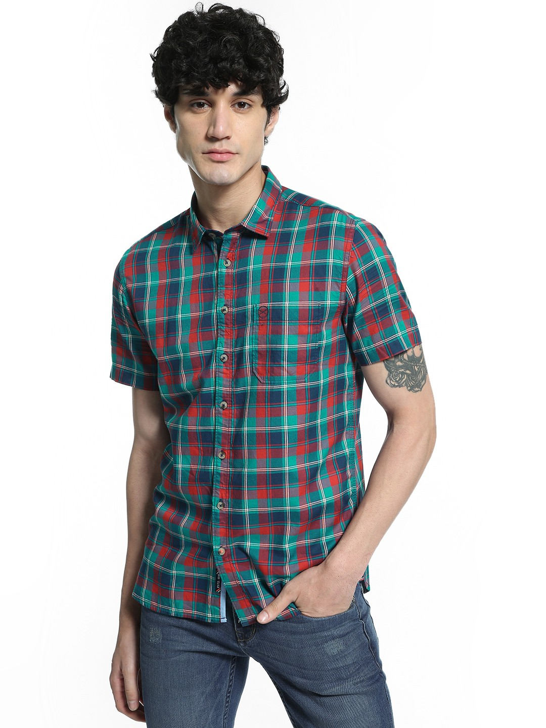 SCULLERS Multi Multi-Check Short Sleeve Shirt 1