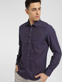SCULLERS Long Sleeve Grid Check Shirt
