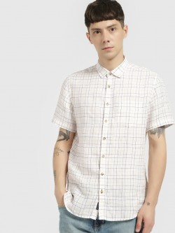SCULLERS Grid Check Short Sleeve Shirt
