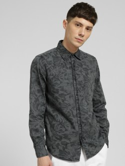 Lion & Hess Palm Print Washed Casual Shirt
