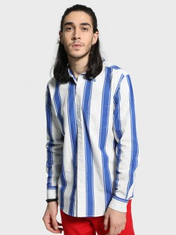 Blue Saint Macro Vertical Stripe Shirt