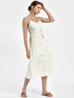Daisy Street Vertical Stripe Midi Dress