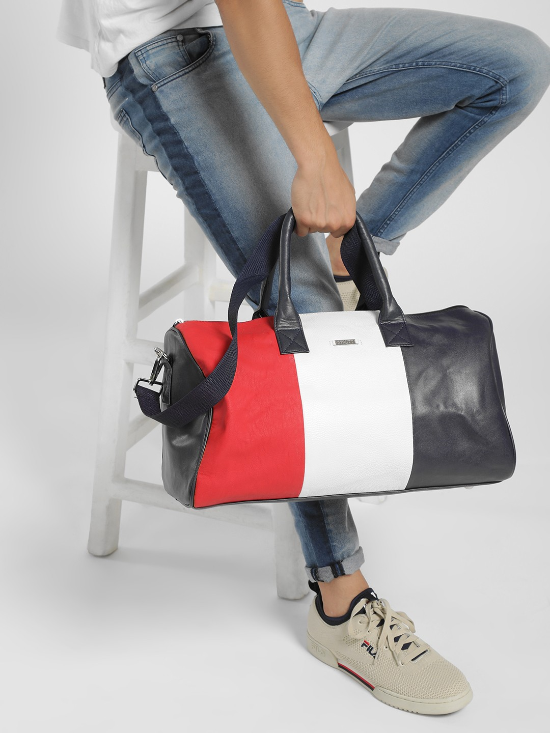 STRUTT Multi Colour Block Duffle Bag 1
