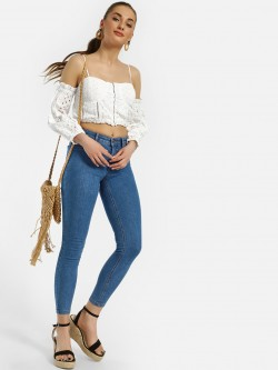 LOVEGEN Basic Cropped Skinny Jeans