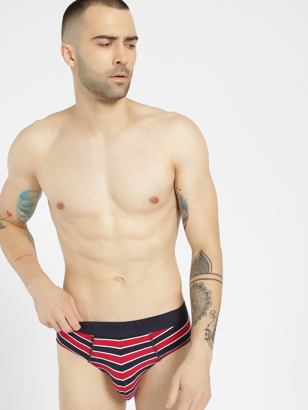 US. Polo. Assn. Multi Multi Stripe Yard Dyed Briefs 1