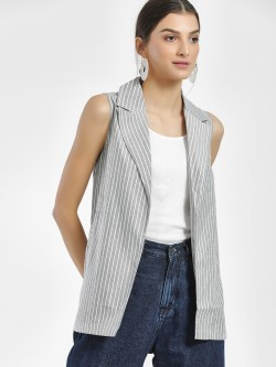 NUSH Stripe Lightweight Sleeveless Jacket