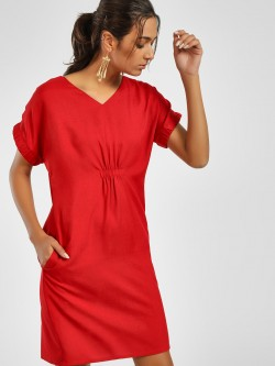 NUSH Cinched Waist Shift Dress