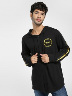 KOOVS Worldwide Side Tape Hooded Shirt