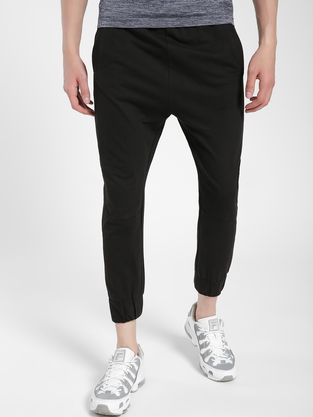 KOOVS Black Pocket Detail Drop Crotch Joggers 1