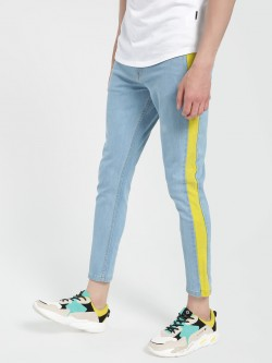 K Denim KOOVS Side Stripe Cut & Sew Jeans