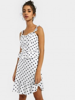 KOOVS Polka Dot Print Shift Dress