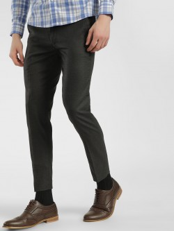 Mr Button Micro Check Slim Trousers