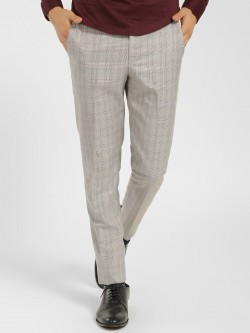 Mr Button Houndstooth Check Slim Trousers