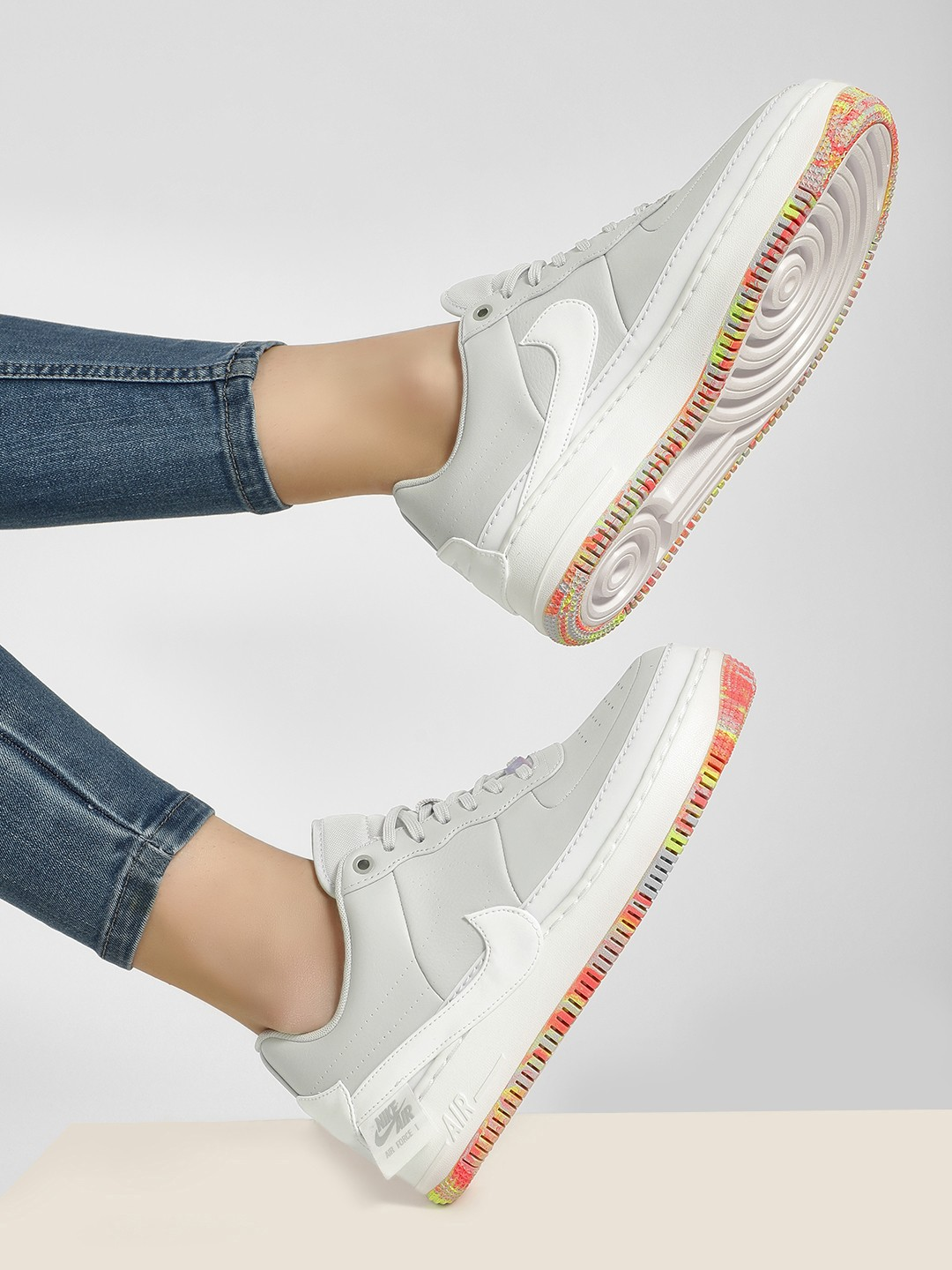 Buy Nike Grey Air Force 1 Jester XX Print for Girls Online