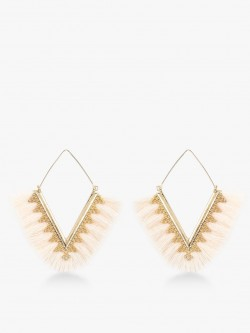 Style Fiesta Triangular Tassel Drop Earrings
