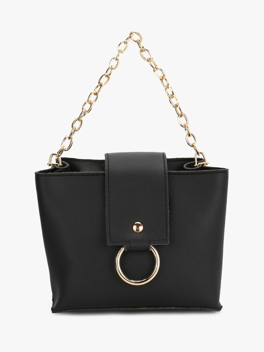 Style Fiesta Black O-Ring Chain Detail Sling Bag 1