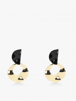 Style Fiesta Half Moon Stud Earrings