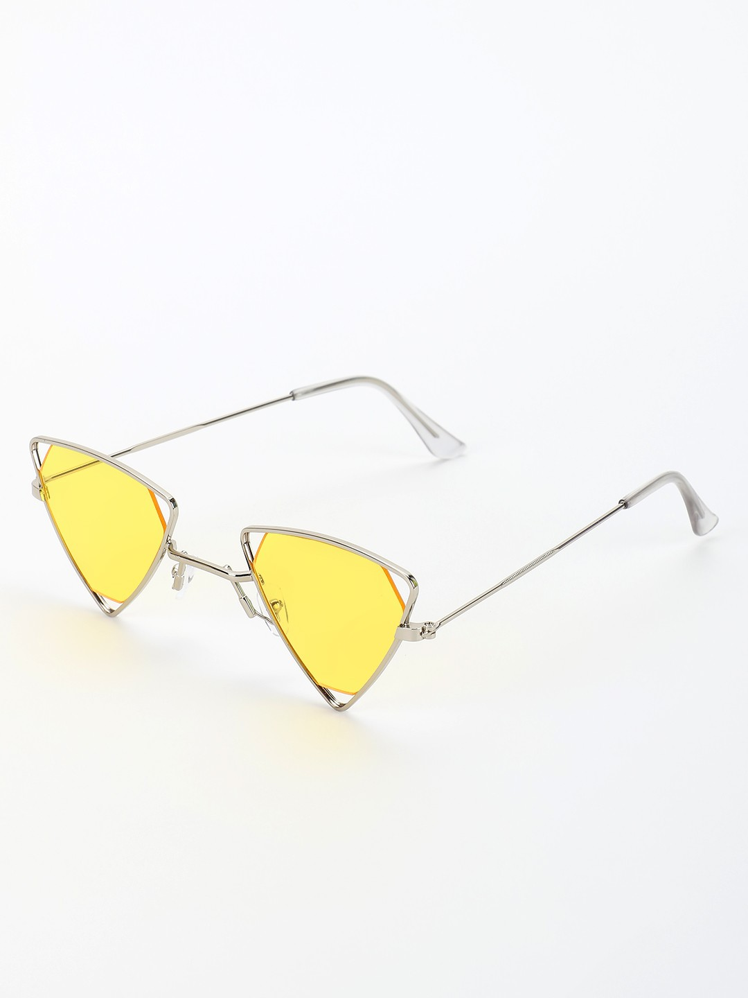 Style Fiesta Yellow Triangular Frame Retro Sunglasses 1