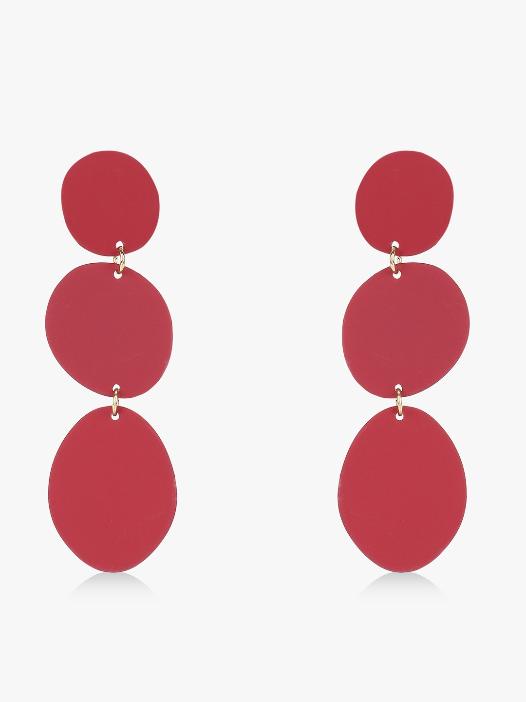 Style Fiesta Red Ascending Circle Earrings 1
