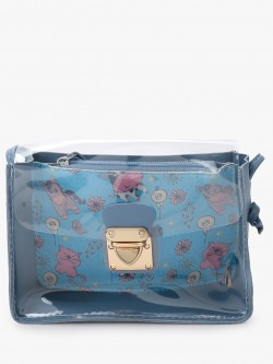 Style Fiesta Unicorn Print Clear Sling Bag