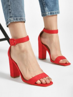 Truffle Collection Suede Barely There Sandals