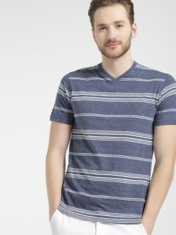 Buffalo Horizontal Stripe V-Neck T-Shirt