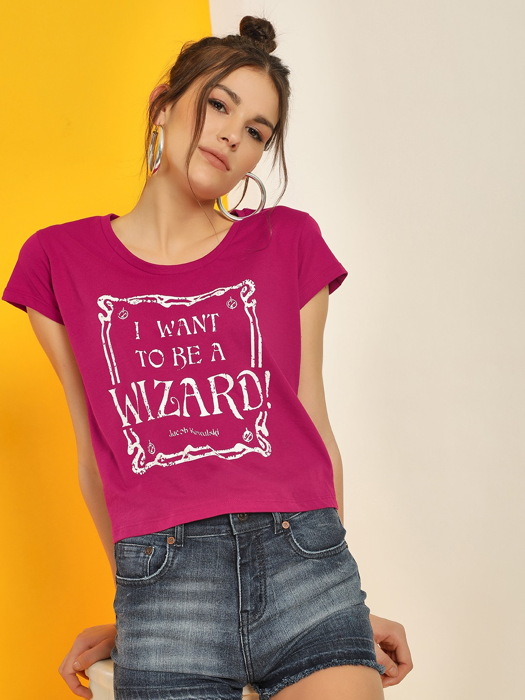 Free Authority Red Harry Potter Slogan Print T-Shirt 1