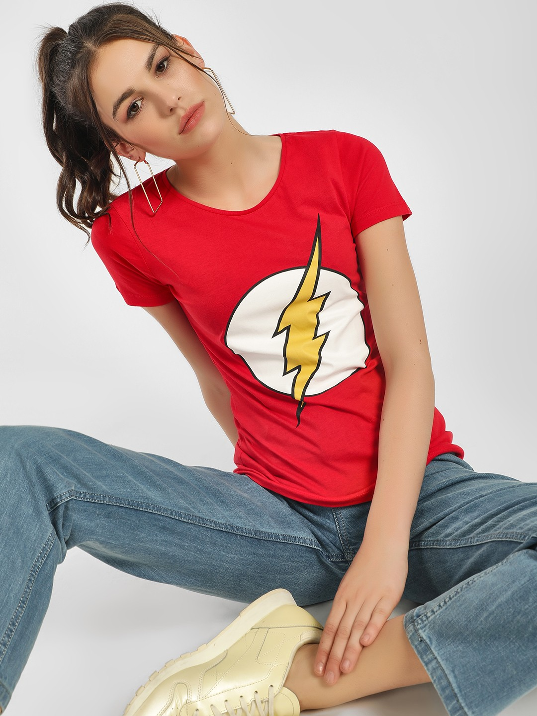 Free Authority Red DC Flash Logo T-Shirt 1
