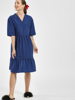 Bhaane Basic Multi-Tier Midi Dress