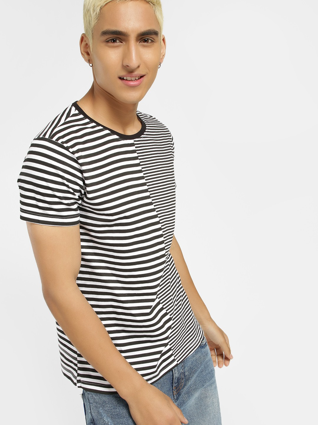 Blue Saint Multi Clashing Stripes T-Shirt 1