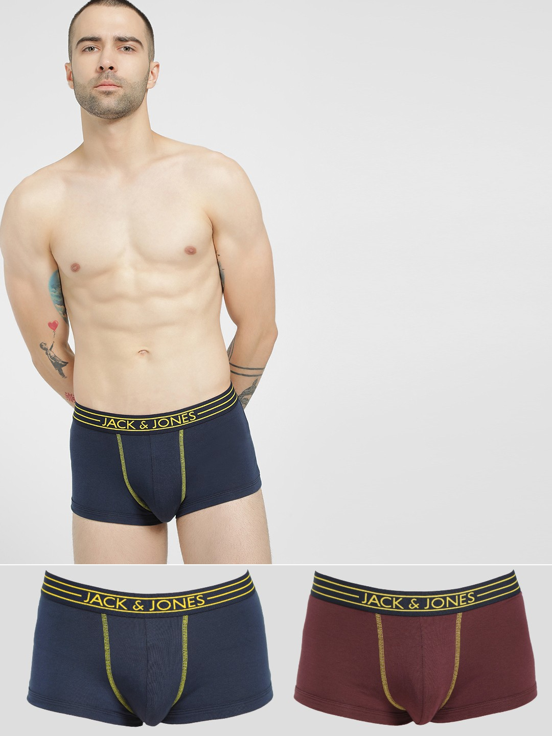 Jack & Jones Multi Brazilian Trunks (Pack Of 2) 1