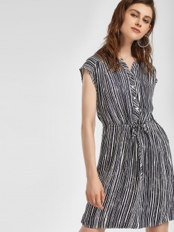 LC Waikiki Striped Shift Dress