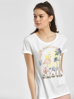 LC Waikiki Aloha Sunset Print Sequinned T-Shirt