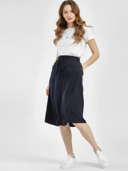 LC Waikiki Pocket Studded Front Tie-Up Midi Skirt