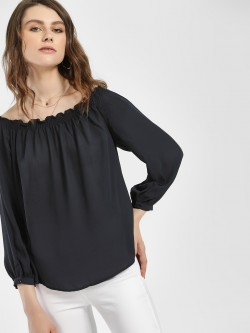 LC Waikiki Ruffled Neck Long Sleeve Blouse