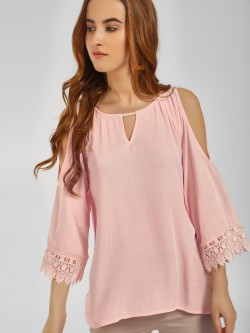 LC Waikiki Cold Shoulder Lace Detail Blouse