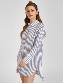 LC Waikiki Vertical Stripe Tunic Dress