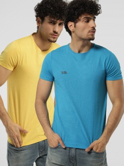 Jack & Jones Crew Neck Slim T-Shirt (Pack Of 2)
