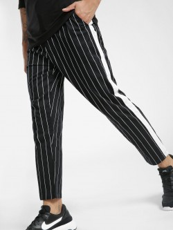 Spring Break Stripe Contrast Tape Cropped Trousers