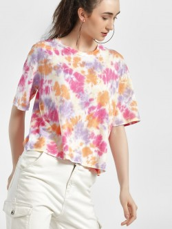 Sbuys Tie & Dye Crop T-Shirt