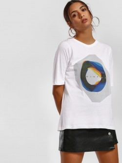 Disrupt Abstract Print Round Neck T-Shirt