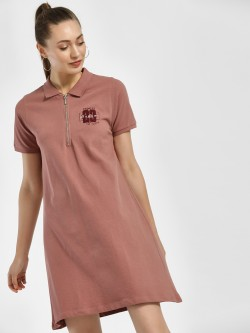 Disrupt Embroidered Logo Polo T-Shirt Dress