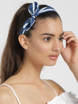 Blueberry Stripe Bow Headband