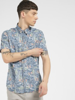 Flying Machine Tropical Print Short Sleeve Shirt