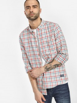 Flying Machine Grid Check Casual Shirt