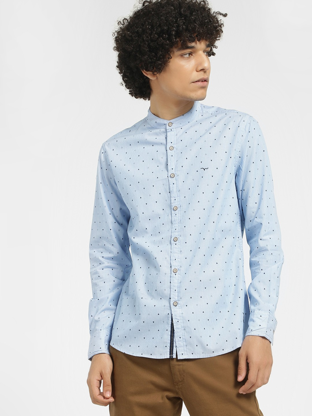 Flying Machine Blue All Over Printed Casual Shirt 1