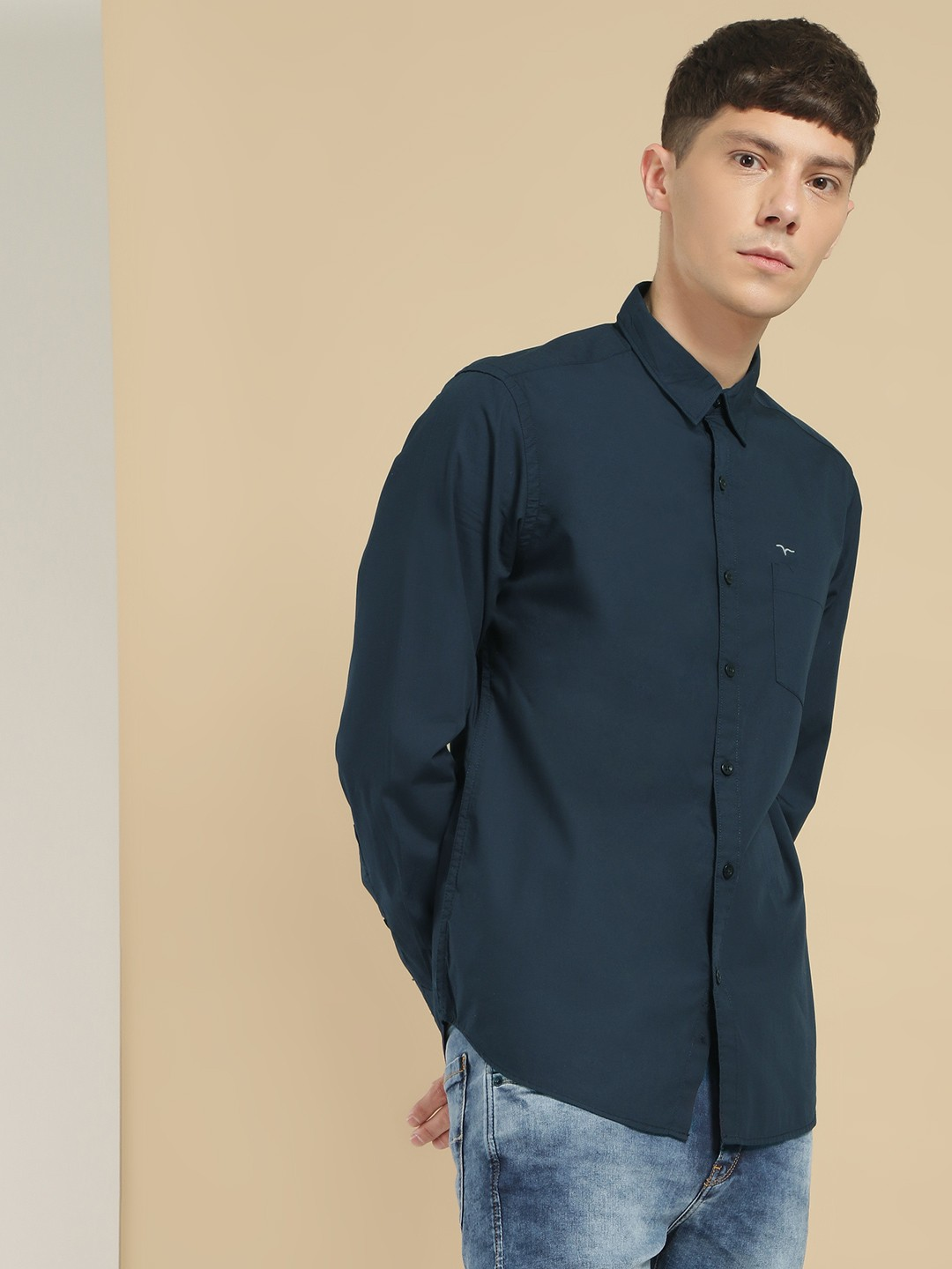 Flying Machine Blue Basic Casual Shirt 1