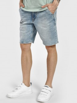 Flying Machine Light Wash Denim Shorts